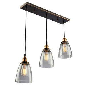 Greenwich Multi Tone Brown Three-Light 5-Inch Wide Mini Pendant