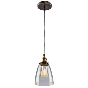 Greenwich Multi Tone Brown One-Light 5.5-Inch Wide Mini Pendant