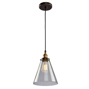 Greenwich Multi Tone Brown One-Light 7.5-Inch Wide Mini Pendant