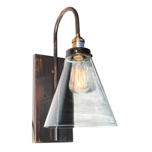 Greenwich Copper and Brown 8-Inch One-Light Wall Sconce