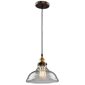 Greenwich Multi Tone Brown One-Light 10-Inch Wide Mini Pendant