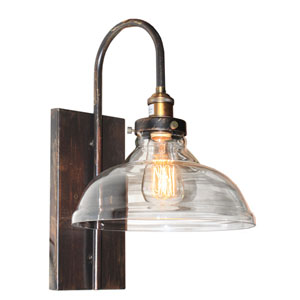 Greenwich Copper and Brown 9.5-Inch One-Light Wall Sconce