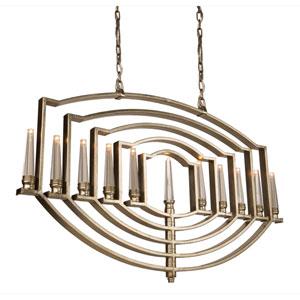 Perceptions Silver Leaf Eleven-Light Pendant