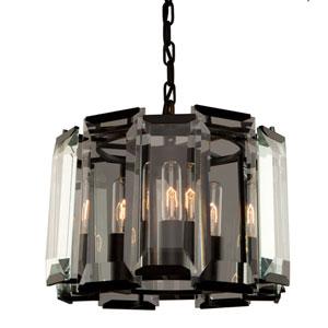 Palisades Matte Black Three-Light Pendant