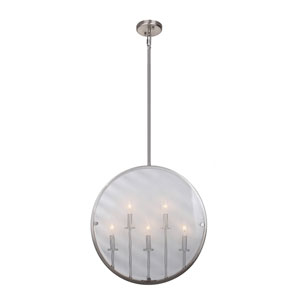 Harbor Point Satin Nickel Five-Light Pendant