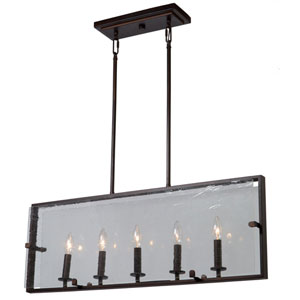 Harbor Point Oil Rubbed Bronze Five-Light Island Fixture