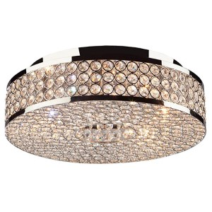 Bella Vista Stainless Steel Five-Light Circular Flush Mount