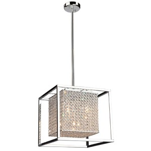 Vega Stainless Steel Five-Light 15.5-Inch Wide Drum Pendant