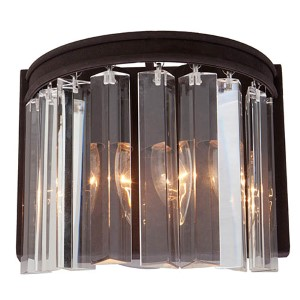 El Dorado Java Brown Two-Light 8.75-Inch Wide Wall Sconce