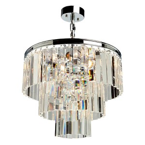 El Dorado Chrome Nine-Light 18.25-Inch Wide Crystal Chandelier