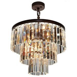 El Dorado Java Brown Nine-Light 18.25-Inch Wide Crystal Chandelier