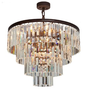 El Dorado Java Brown Nine-Light 24-Inch Wide Crystal Chandelier