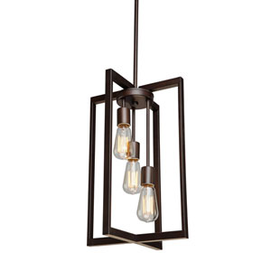 Gastown Oil Rubbed Bronze Three-Light Pendant