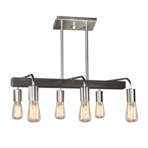 Lynwood Brushed Nickel Six-Light Island Pendant