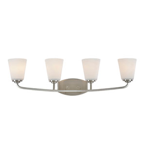 Hudson Brushed Nickel Four-Light Wall Sconce