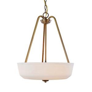 Hudson Vintage Brass Three-Light Pendant