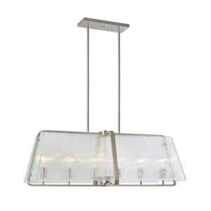 La Traviata Brushed Nickel Six-Light Island Pendant