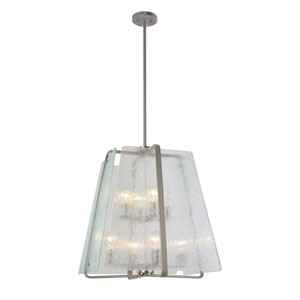 La Traviata Brushed Nickel Eight-Light Pendant
