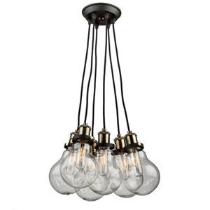 Edison Vintage Brass Five-Light Pendant