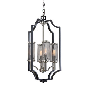 Oxford 14-Inch Matte Black Four-Light Chandelier