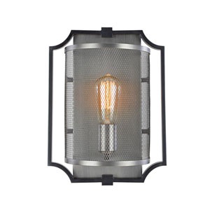 Oxford Matte Black One-Light Wall Sconce