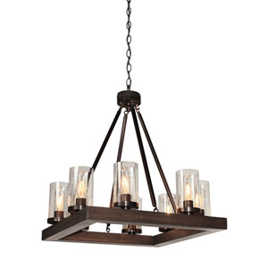 Jasper Park 23-Inch Bronze Eight-Light Chandelier