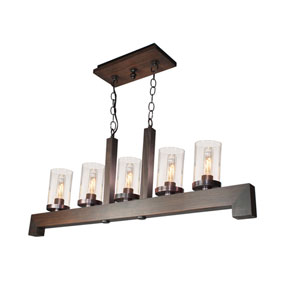 Jasper Park Brunito Bronze Three-Light Island Pendant