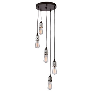 Jersey Chrome Five-Light Pendant