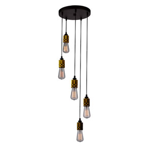 Jersey Vintage Brass Five-Light Pendant