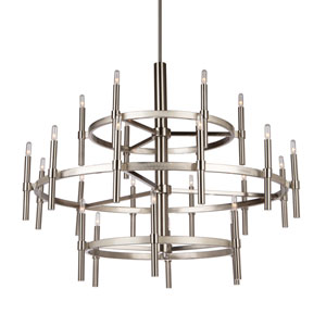 Encore Polished Nickel 24-Light Chandelier