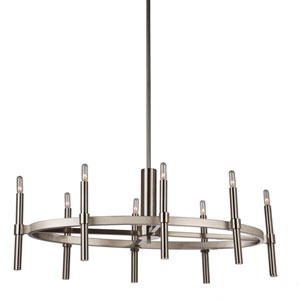 Encore Polished Nickel Eight-Light Chandelier
