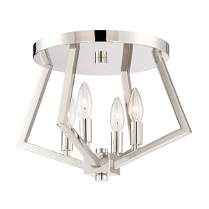 Breezy Point Polished Nickel Four-Light Flush Mount