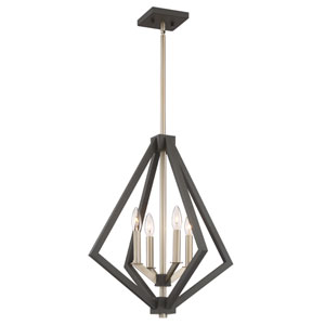 Breezy Point Bronze Four-Light Pendant
