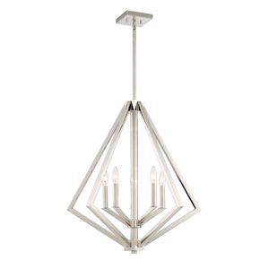 Breezy Point Polished Nickel Five-Light Pendant