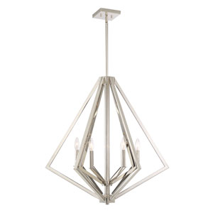 Breezy Point Polished Nickel Six-Light Pendant