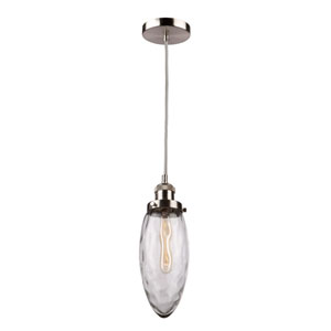 Lux Brushed Nickel 13-Inch One-Light Mini Pendant