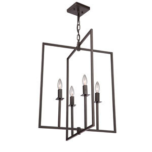 Allston Oil Rubbed Bronze 25-Inch Four-Light Pendant