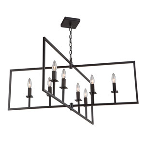 Allston Oil Rubbed Bronze Eight-Light Pendant