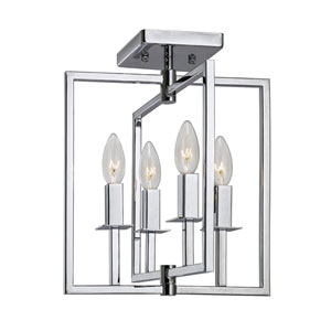 Allston Chrome 12-Inch Four-Light Flush Mount