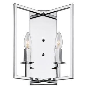 Allston Chrome 10-Inch Two-Light Wall Bracket