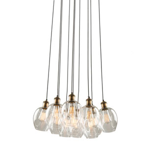Clearwater Vintage Brass 22-Inch Eleven-Light Chandelier