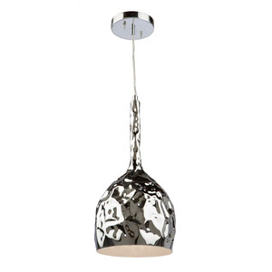 Forged Metal Chrome 16-Inch One-Light Mini Pendant