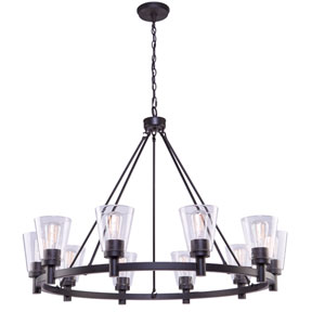 Clarence Oil Rubbed Bronze Ten-Light Chandelier