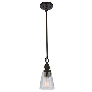 Clarence Brushed Nickel One-Light Mini Pendant