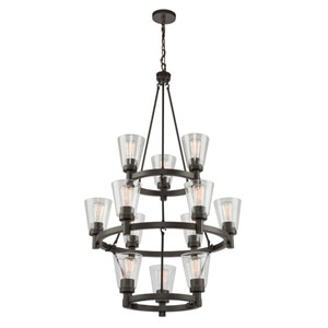 Clarence Oil Rubbed Bronze 12-Light Chandelier