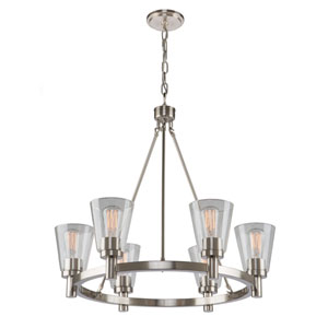 Clarence Brushed Nickel 34-Inch Six-Light Chandelier