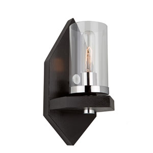 Canyon Creek Authentic Dark Brown Pine One-Light Wall Sconce
