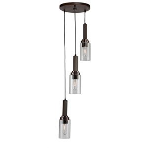Home Glow Brunito Three-Light Mini Pendant