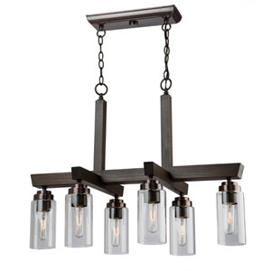 Home Glow Brunito Six-Light Chandelier