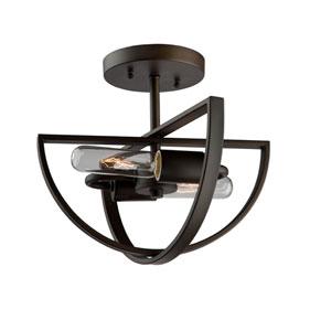 Newport Oil Rubbed Bronze Two-Light Semi Flush
